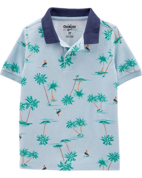 Palm Tree Pique Polo