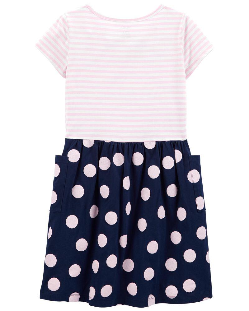 Mixed Print Jersey Dress, , hi-res