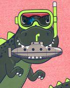 Dinosaur Snow Yarn Tee, , hi-res