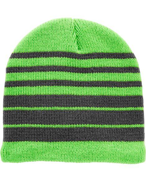 Tuque à rayures en tricot