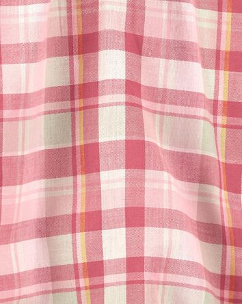 Plaid Puff-Sleeve Bodysuit