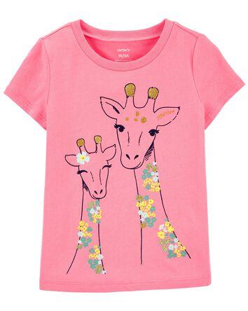 T-shirt en jersey girafe scintillan...