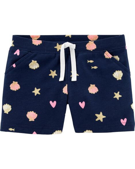 Seashell Pull-On French Terry Shorts
