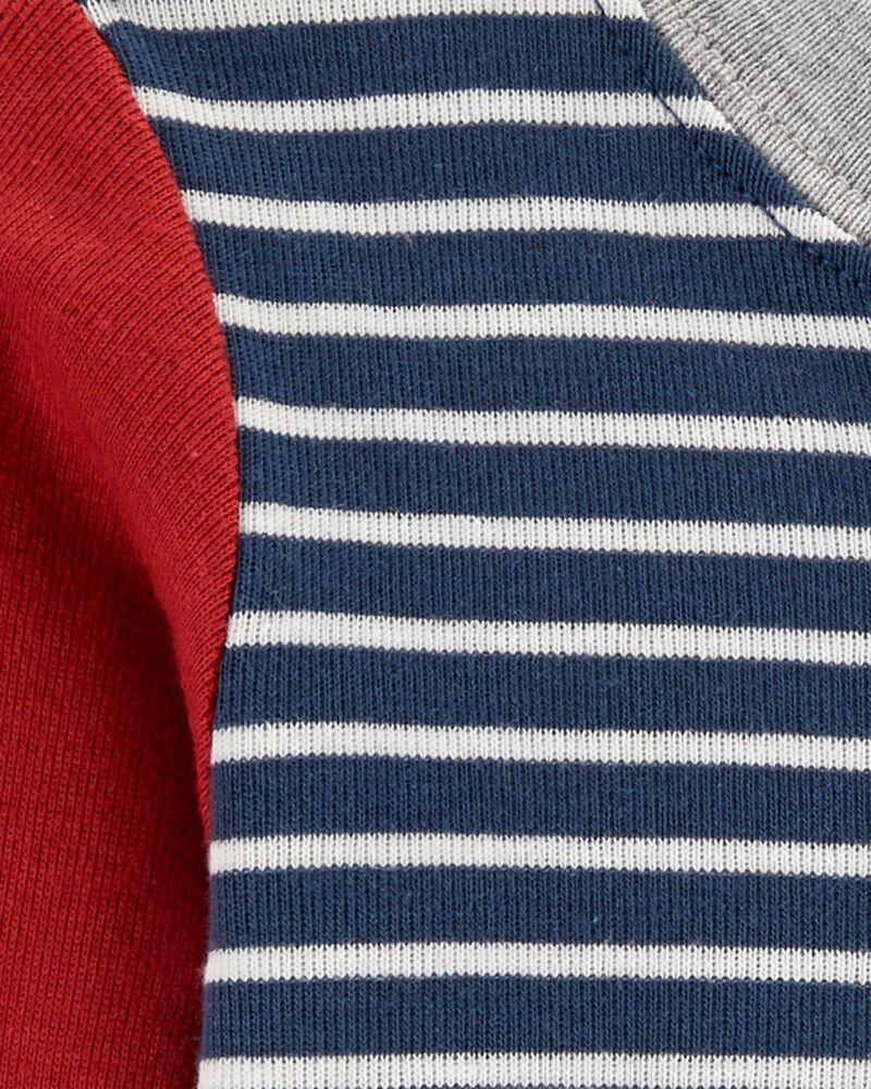 Raglan-Sleeve Bodysuit, , hi-res