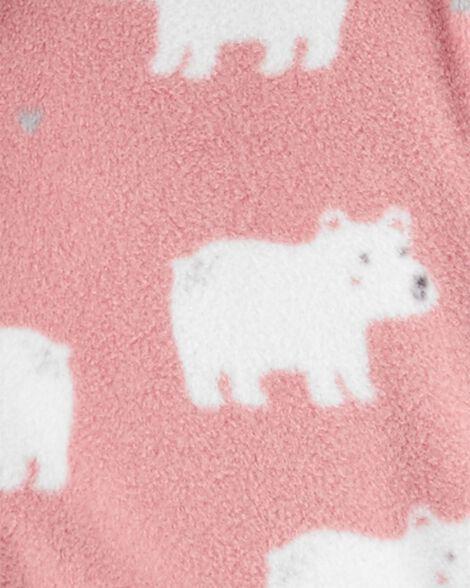 Combinaison à capuchon en molleton à glissière et ourson