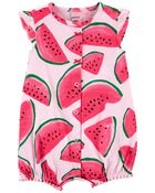 Watermelon Cotton Romper, , hi-res