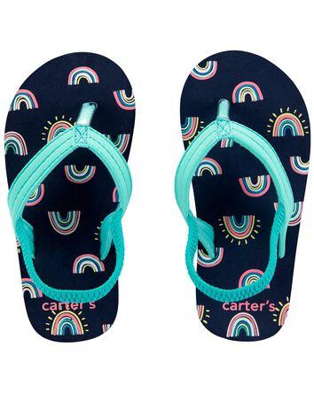 Sandales de plage arc-en-ciel