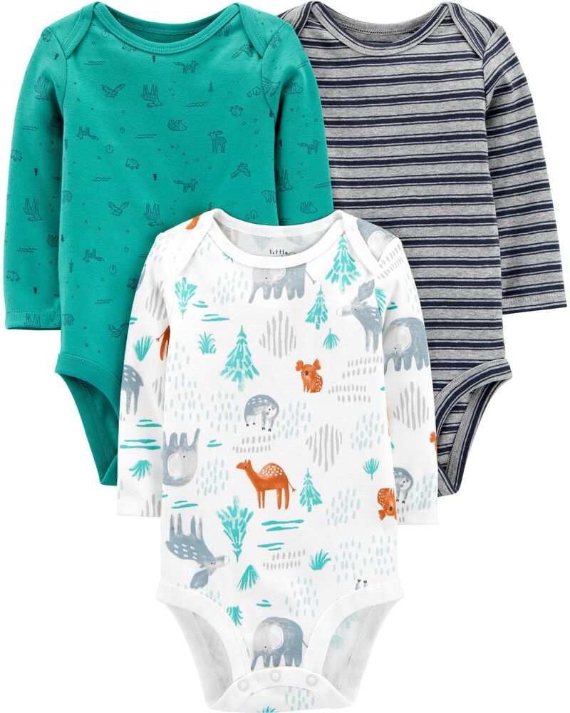 3-Pack Certified Organic Cotton Original Bodysuits, , hi-res