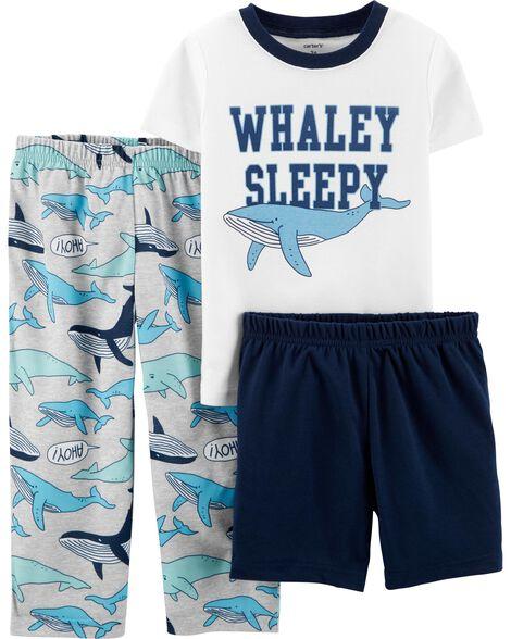 3-Piece Whale Poly PJs