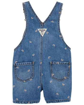 Rainbow Print Denim Shortalls
