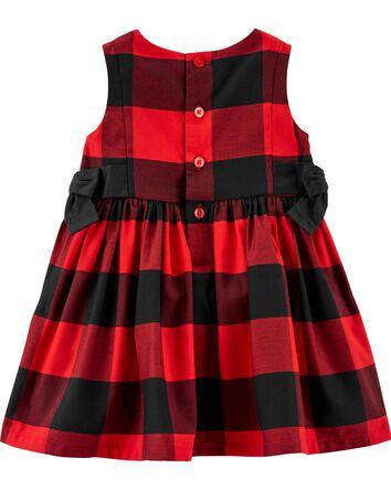 Buffalo Check Sateen Dress