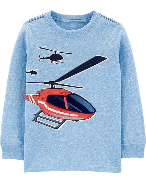 T-shirt chiné à hélicoptère
