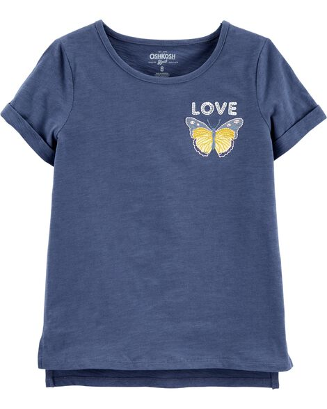 Butterfly Embroidered Tee