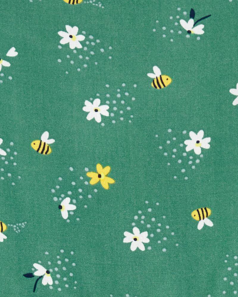 Floral Bee Poplin Dress, , hi-res