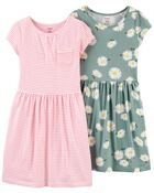 2-Pack Jersey Dresses, , hi-res