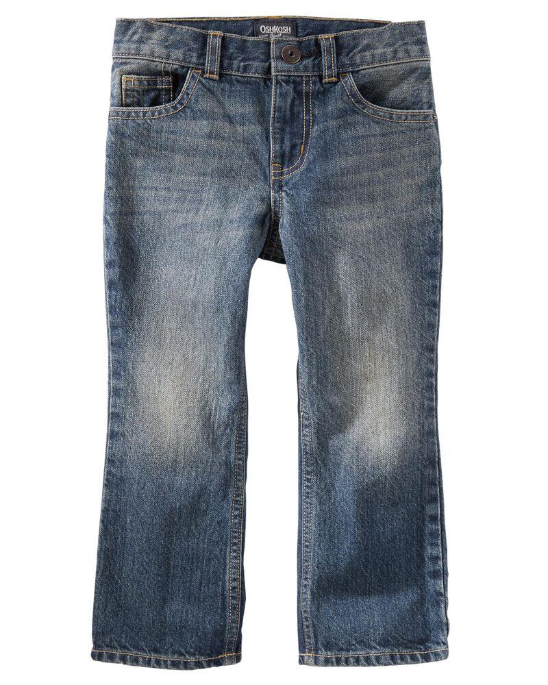 Classic Jeans - Tumbled Medium Faded Wash, , hi-res