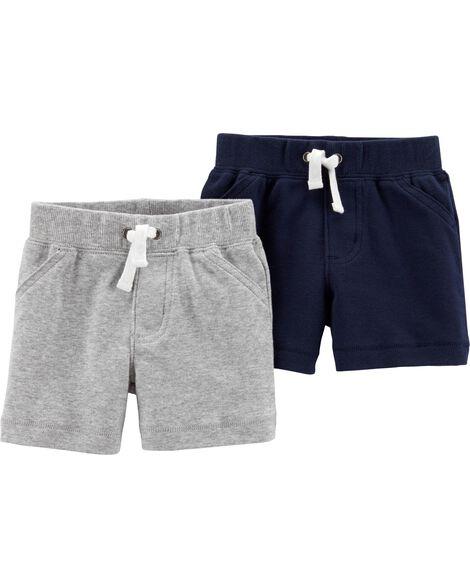 Emballage de 2 shorts à enfiler