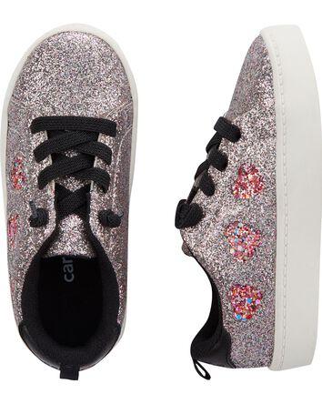 Glitter Heart Sneakers
