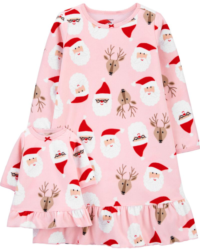 Christmas Matching Nightgown & Doll Nightgown Set, , hi-res