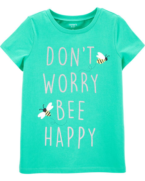 T-shirt en jersey Bee Happy