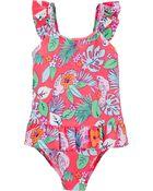 OshKosh Floral One Piece Swimsuit, , hi-res