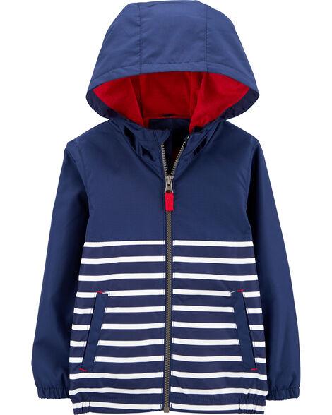 Striped Windbreaker Jacket