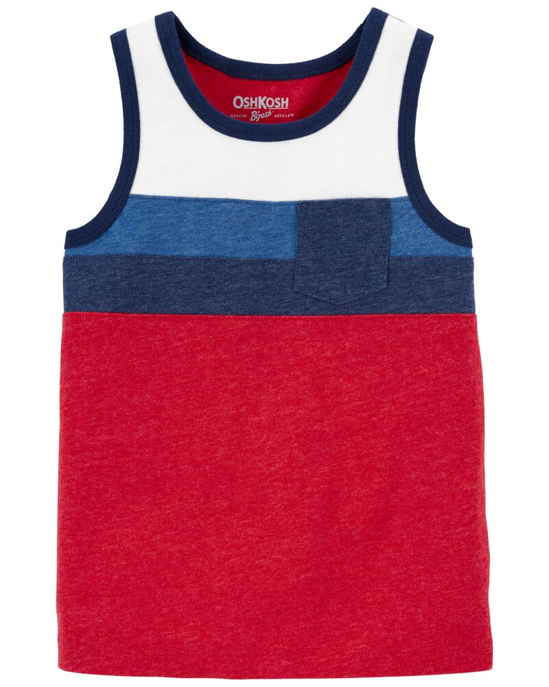 Colourblock Pocket Tank, , hi-res