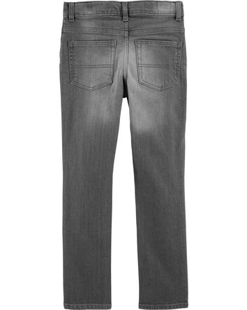 Jeans fuseau - délavage gris crépus...
