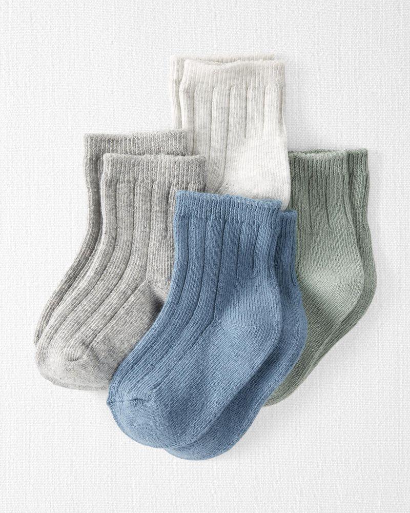 Emballage de 4 paires de chaussettes en coton côtelé biologique, , hi-res