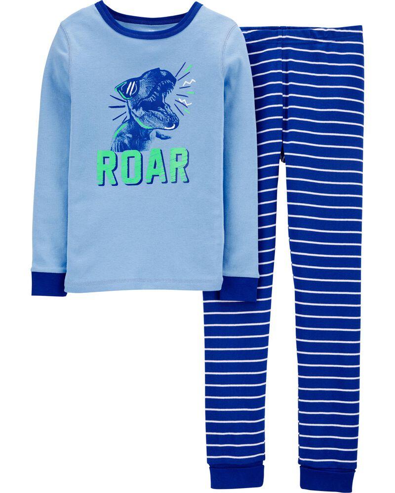 Pyjamas 2 pièces ajusté à dinosaure, , hi-res