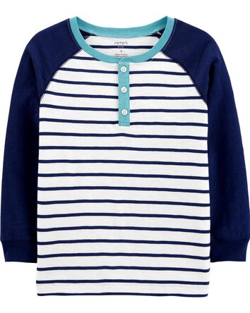 Striped Slub Jersey Henley