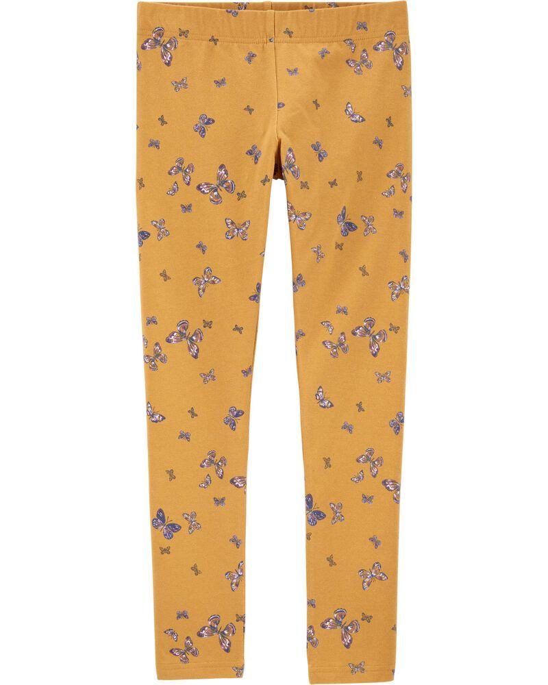 Butterfly Print Leggings, , hi-res