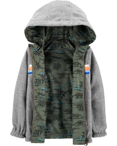 Reversible Dino Windbreaker Jacket