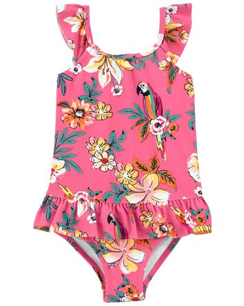 Tropical Parrot Ruffle Swimsuit
