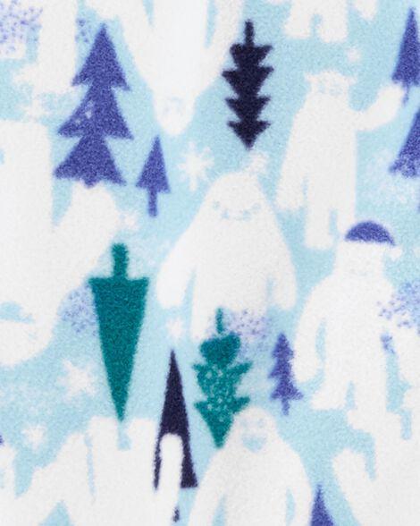 Pyjama 1 pièce en molleton monstre des neiges