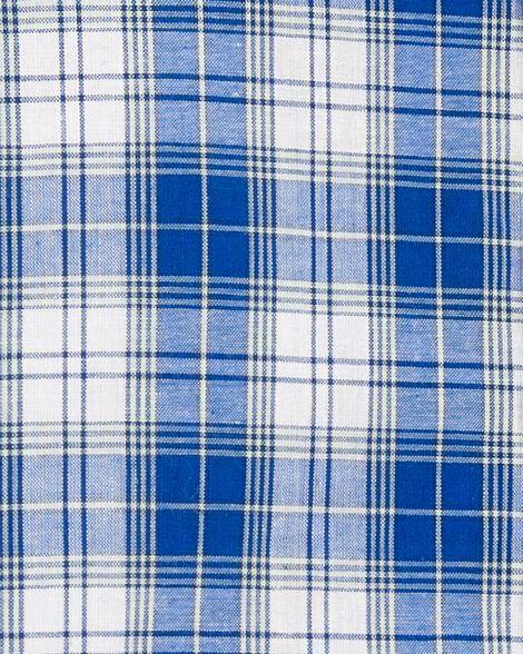 Ensemble 2 pièces chemise à carreaux boutonnée et short en popeline