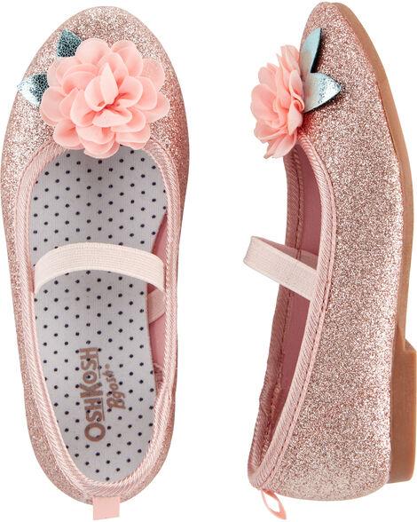 Glitter Ballet Flats