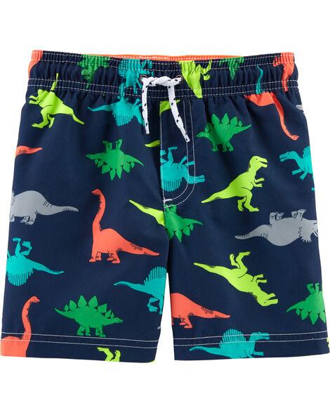 Dinosaur Print Swim Trunks