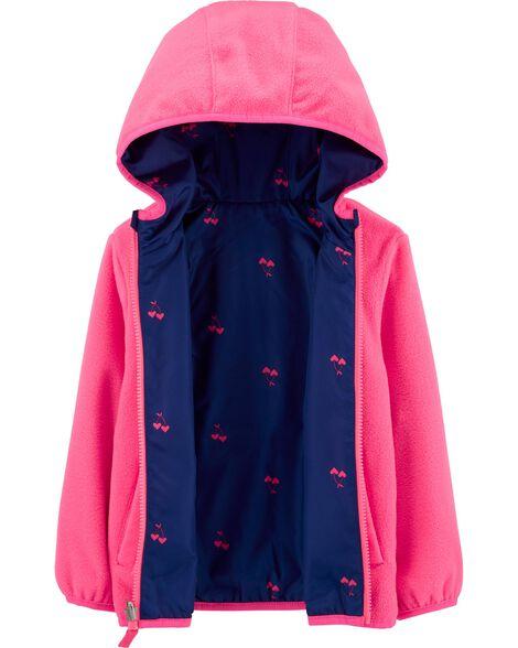 Reversible Cherry Heart Print Midweight Jacket