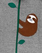 1-Piece Sloth 100% Snug Fit Cotton Footie PJs, , hi-res