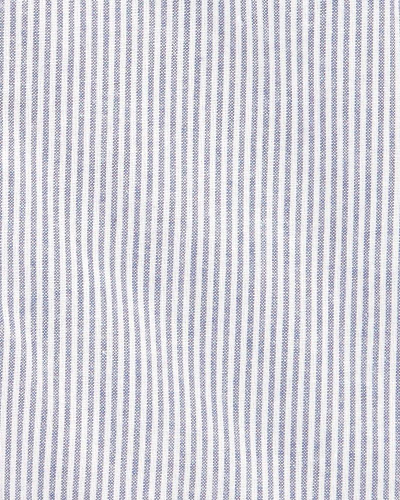 Oxford Striped Romper, , hi-res
