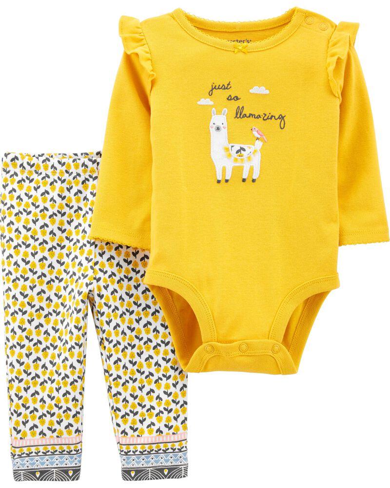 2-Piece Llama Bodysuit Pant Set, , hi-res
