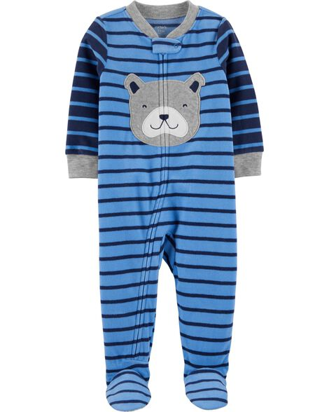 1-Piece Dog Fleece Footie PJs