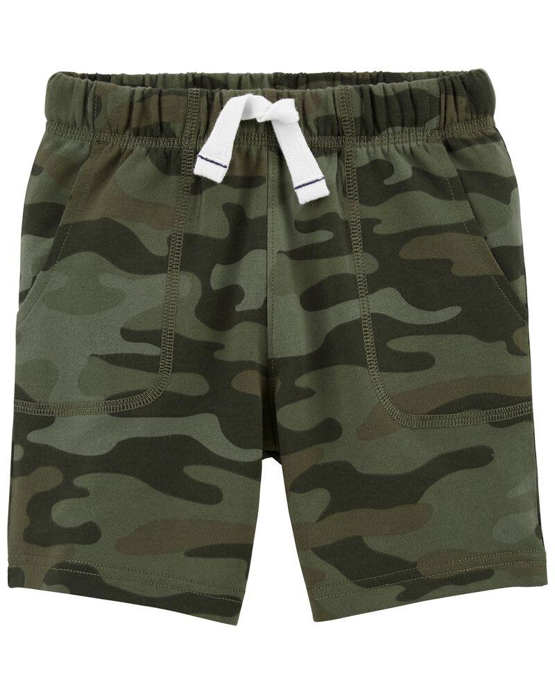 Short en jersey bouclette camouflage, , hi-res