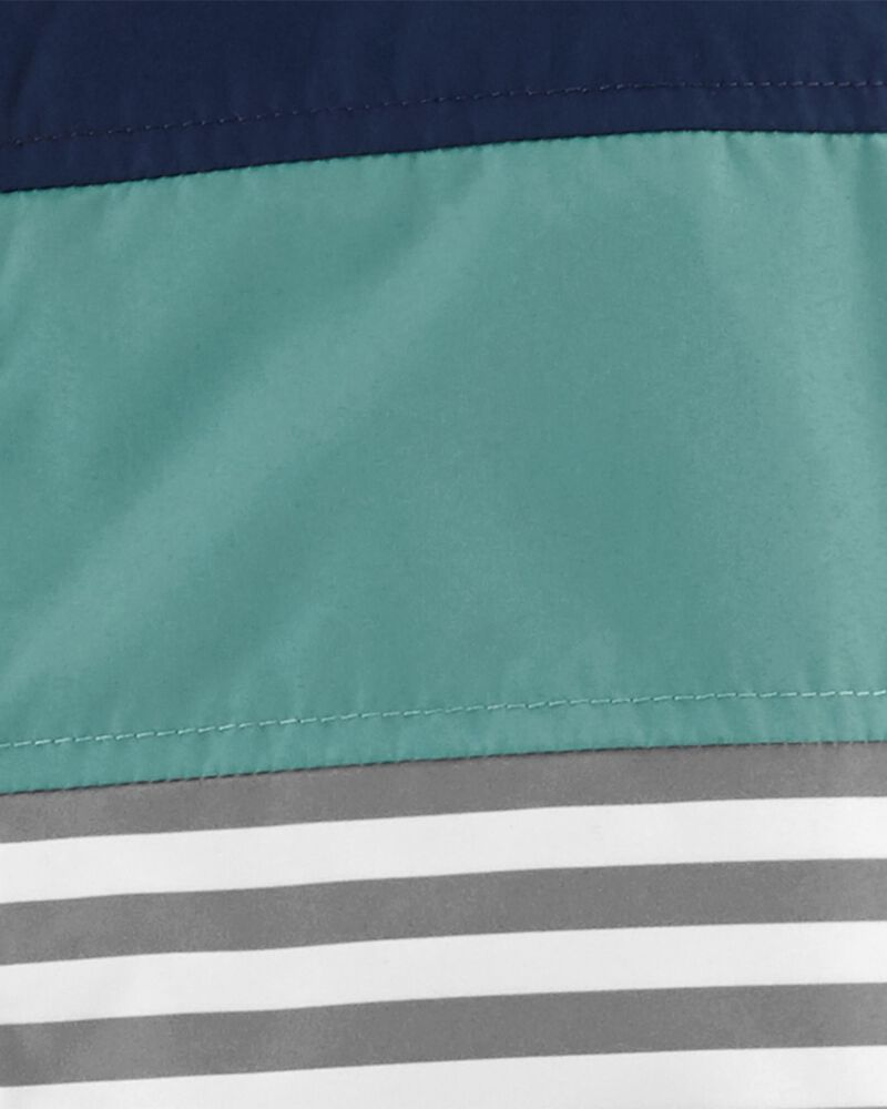 Colourblock Stripe Fleece-Lined Midweight Jacket, , hi-res