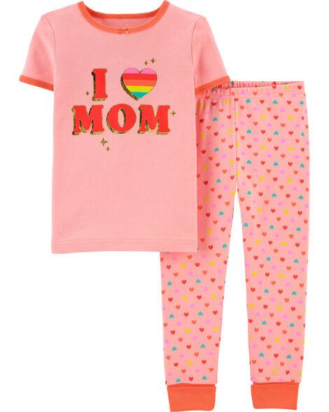 Pyjama en coton ajusté Love Mom