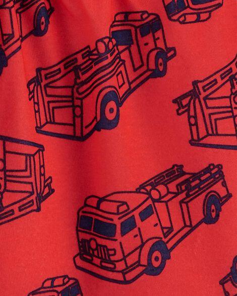 3-Piece Firetruck Poly PJs