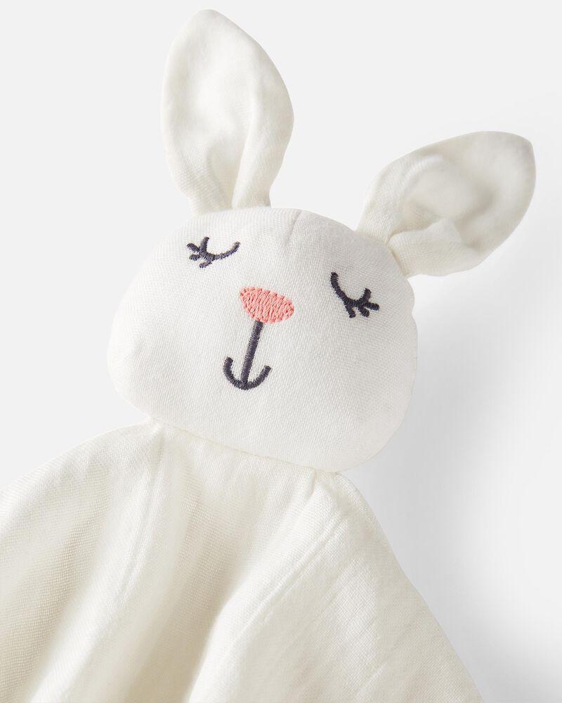 Organic Cotton Muslin Bunny Lovie, , hi-res