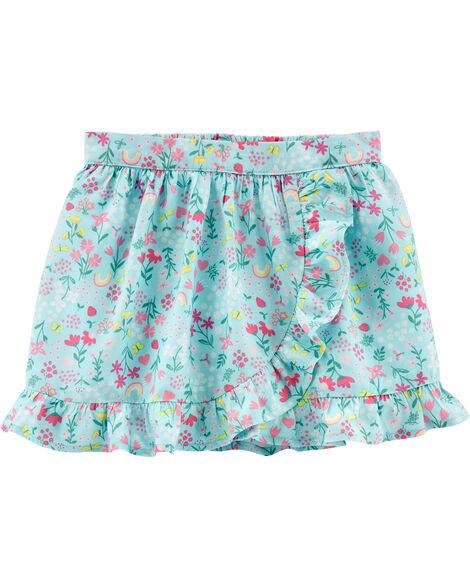 Jupe-short à fleurs