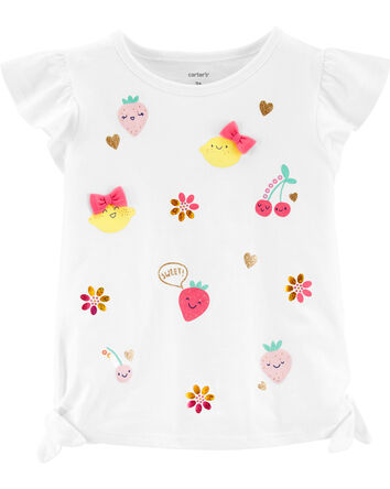 Glitter Fruit Jersey Top